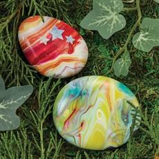 Paint Pour Rocks