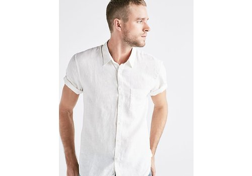 Lucky French Linen White Button Down