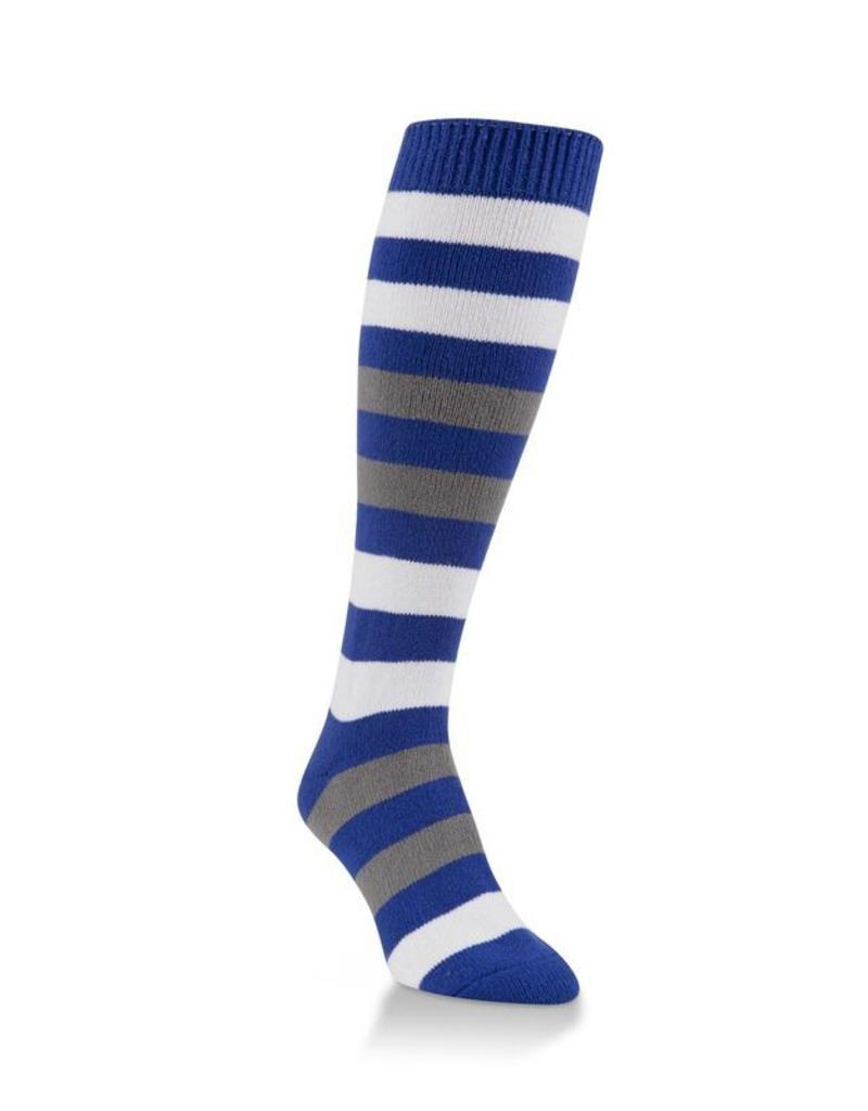 05e330589 World s Softest - Team Tri-Color Rugby Knee High - WSTMOTC - Royal Blue  White Grey