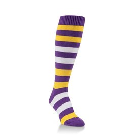 World's Softest World's Softest - Team Tri-Color Rugby Knee High - WSTMOTC - Purple/Gold/White