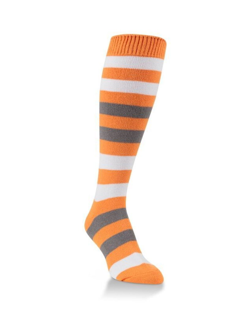 World's Softest World's Softest - Team Tri-Color Rugby Knee High - WSTMOTC - Orange/White/Charcoal