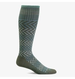 Sockwell Sockwell - Moderate Lifestyle Compression - Chevron - SW7W - Eucalyptus - Women's