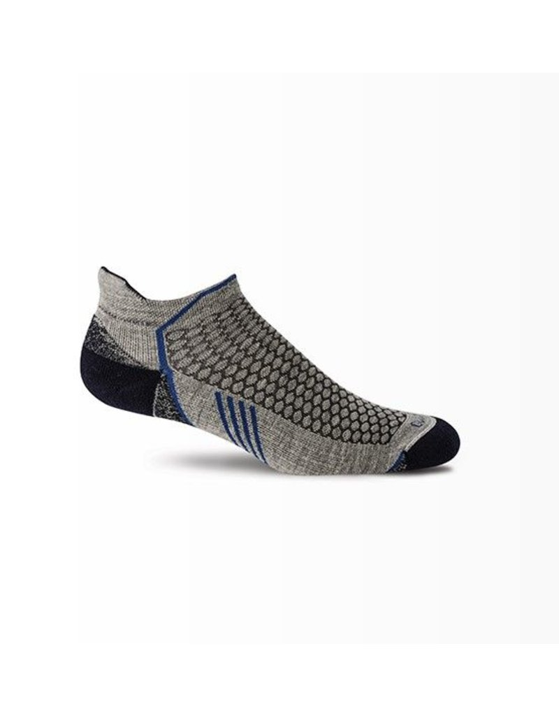 Sockwell Sockwell - Moderate Compression - Incline Micro - PA6M - Grey - Men's