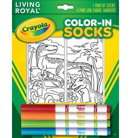 Living Royal Living Royal - Dinosaur Safari - Color-in Socks - 102CIS - Crew