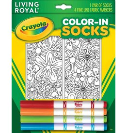 Living Royal Living Royal - Floral - Color-In Socks - 103CIS - Crew