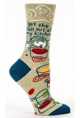 Blue Q Blue Q - Get The Hell Out Of My Kitchen - Crew - Women's