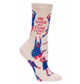 Blue Q Blue Q - When My Song Comes On - Crew - Women's