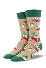 Socksmith Socksmith - Christmas Campers - MNC1645 - Hemp Heather - Crew -  Men's
