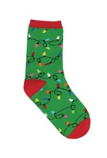Socksmith Socksmith - Christmas Lights - Green - Crew - Kids