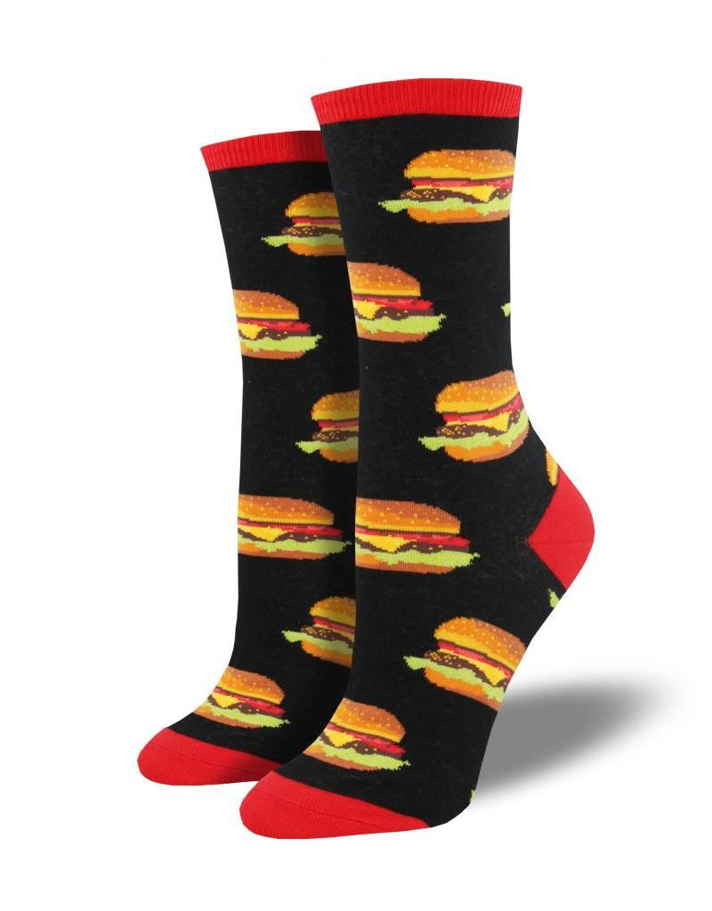 Socksmith Socksmith - Good Burger - Black - WNC1582 - Crew - Women's
