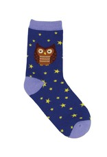 Socksmith Socksmith - Hoot's The Cutest? - Navy - Crew - Kids