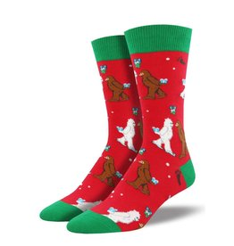 Socksmith Socksmith - Mythical Kissmas - Red - MNC1646 - Crew - Men's