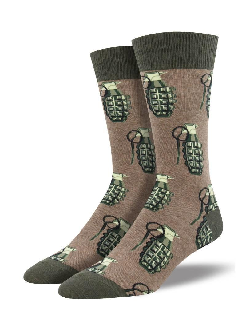 Socksmith Socksmith - Put A Pin In It - Heather Brown - MNC1642 - Crew - Men's