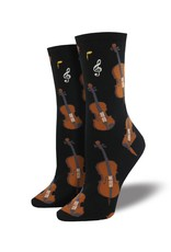 Socksmith Socksmith - Strings - Black - WNC1604 - Crew - Women's