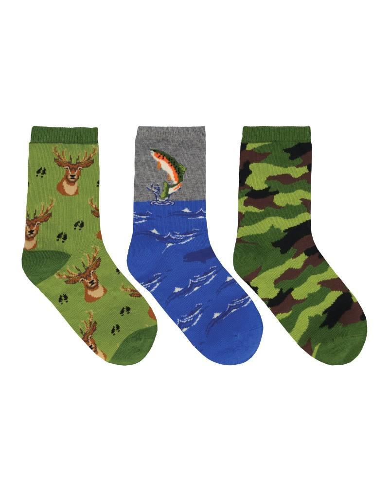 Socksmith Socksmith - The Great Outdoors - 3-Pack - Crew - Kids