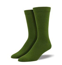 Socksmith Socksmith - Bamboo Solid - Cedar Green - MBC1 - Crew - Men's