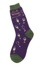 Foot Traffic Foot Traffic - Love Wine - 6846 - Crew - Women's