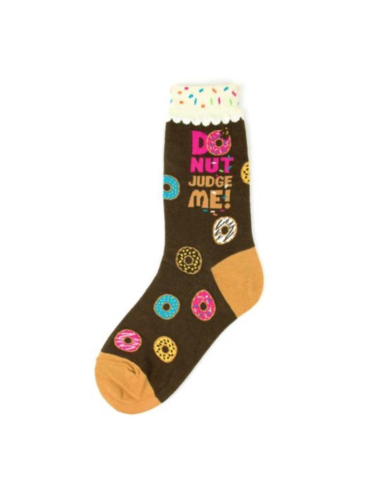 Foot Traffic Foot Traffic - Donut Judge Me - 6926- Crew - Women's