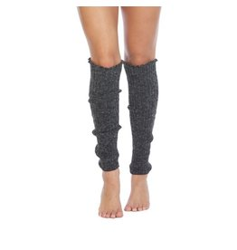 Foot Traffic Foot Traffic - Cable Knit Leg Warmers - LW100 -  Charcoal