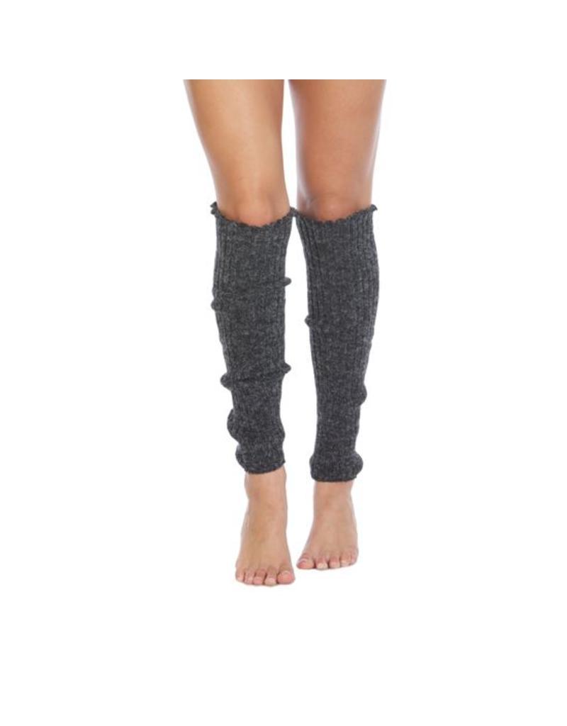 Foot Traffic Foot Traffic - Cable Knit Leg Warmers - LW100 -  Charcoal