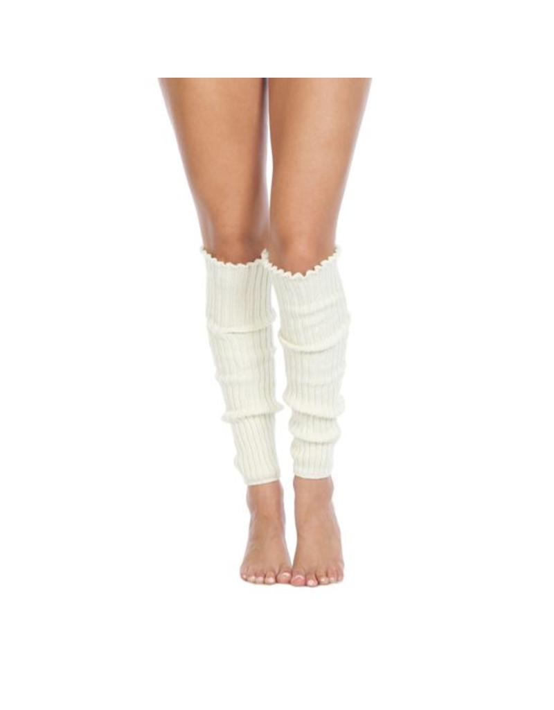 Foot Traffic Foot Traffic - Cable Knit Leg Warmers - LW100 -  Ivory