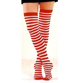 Foot Traffic Foot Traffic - Opaque - 930TH - Red/White - Thigh High - Women's