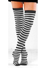 Foot Traffic Foot Traffic - Opaque - 930TH - Black/White - Thigh High - Women's