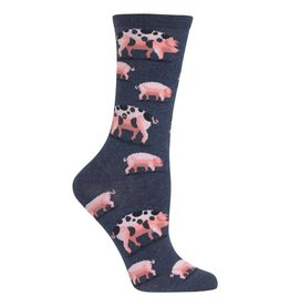 Hot Sox Hot Sox - Spotted Pigs - HO002759 - Crew - Women's