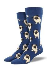 Socksmith Socksmith - King Size - Pugs - Blue - K-MNC1661 - Crew - Men's