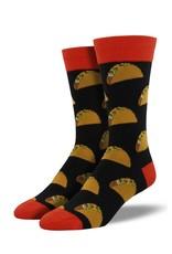 Socksmith Socksmith - King Size - Tacos - Black - K-MNC801 - Crew - Men's