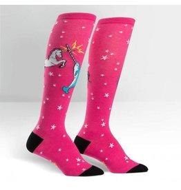 Sock It to Me Sock It To Me - Unicorn vs. Narwhal - F0272 - Knee High - Women's