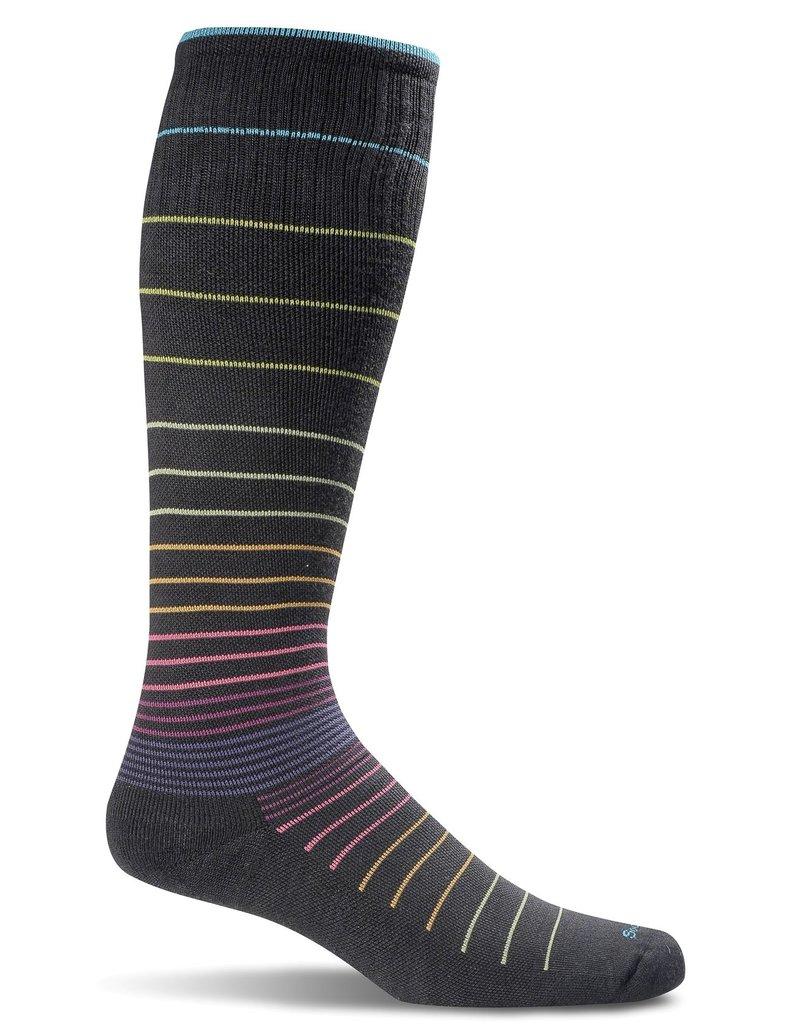 Sockwell Sockwell - Moderate Lifestyle Compression - Circulator  - SW1W - Black Stripe - Women's