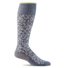 Sockwell Sockwell - Moderate Lifestyle Compression - Damask - SW16W - Denim - Women's