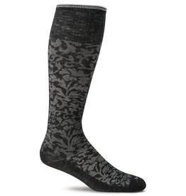 Sockwell Sockwell - Moderate Lifestyle Compression - Damask - SW16W - Black - Women's