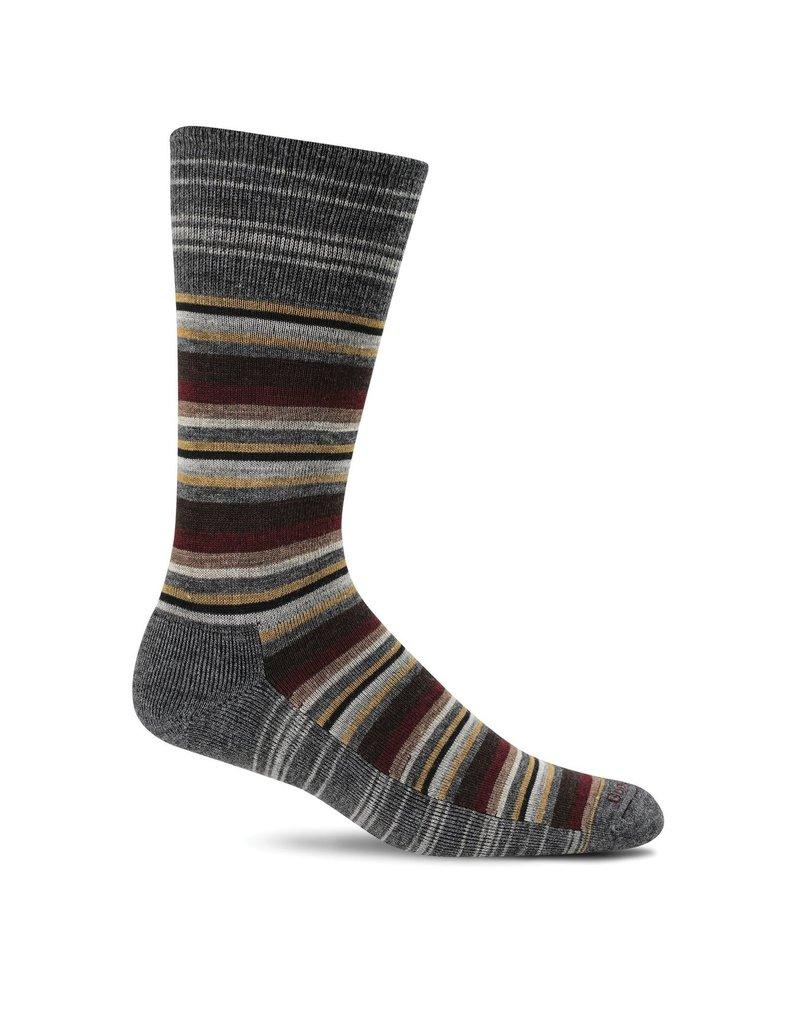 Sockwell Sockwell - Essential Comfort - Fiesta Stripe - LD19M - Charcoal - Men's