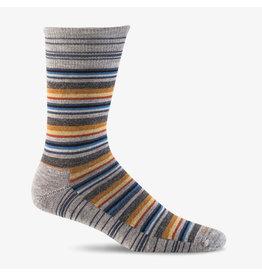 Sockwell Sockwell - Essential Comfort - Fiesta Stripe - LD19M - Grey - Men's