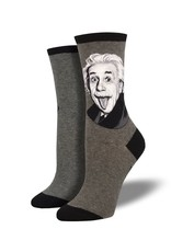 Socksmith Socksmith - Einstein Portrait - Gray - WNC1940-HEG - Crew - Women's