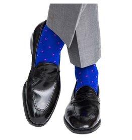 Dapper Classics Dapper Classics - Clematis Blue with Rose Dot - Cotton - OTC