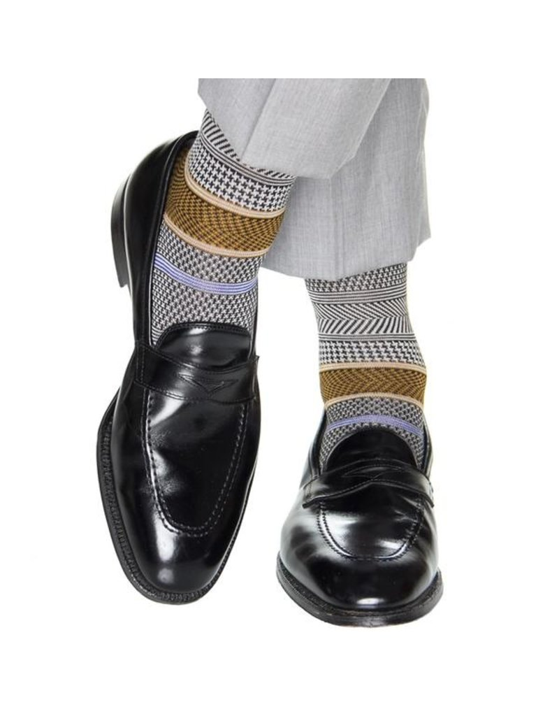 Dapper Classics Dapper Classics - Black with Gold/Ash/Sky/Clematis Blue Band - Cotton - OTC