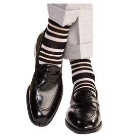 Dapper Classics Dapper Classics - Black with Ash and Tan Double Stripe - Cotton - OTC