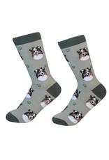 Sock Daddy - Australian Shepherd - Olive - Crew - Unisex