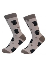Sock Daddy - Black Pug - Dark Tan - Crew - Unisex