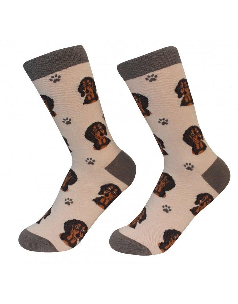 Sock Daddy - Dachshund - Black - Crew - Unisex