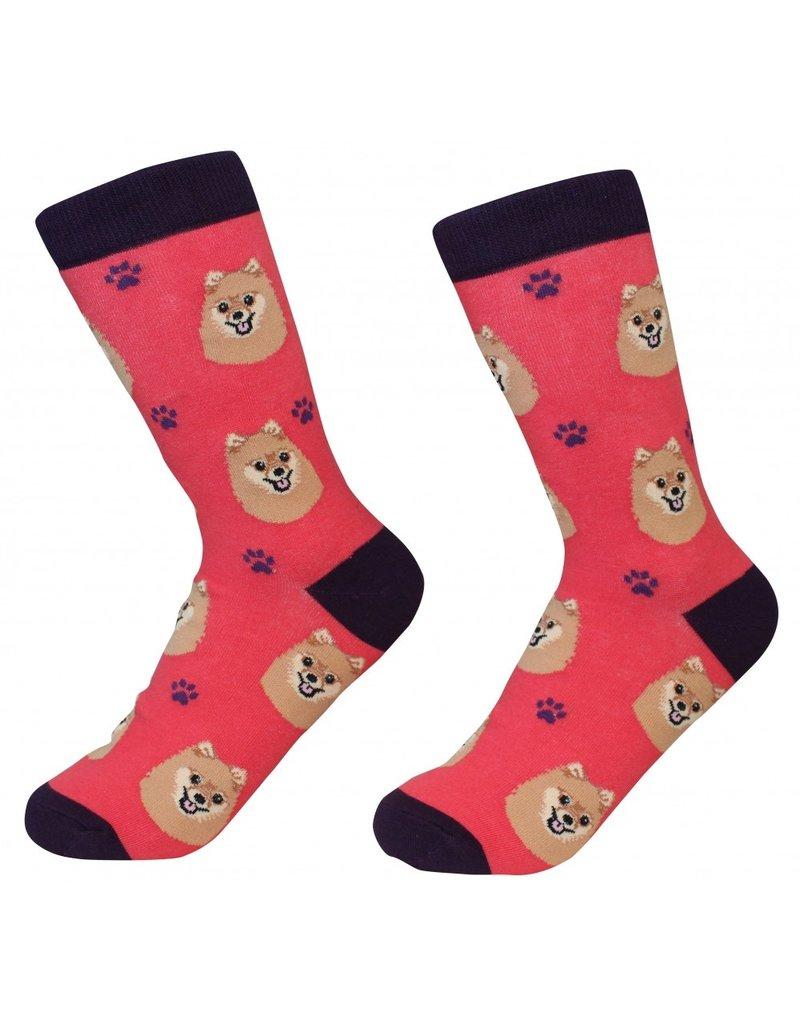 Sock Daddy - Pomeranian - Red - Crew - Unisex