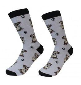 Sock Daddy - Schnauzer - Gray - Crew - Unisex