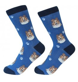 Sock Daddy - Sheltie - Dark Royal - Crew - Unisex