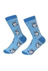 Sock Daddy - Siberian Husky - Blue - Crew - Unisex