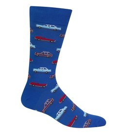 Hot Sox Hot Sox - Cars - Blue - HM100545 - Crew - Men's