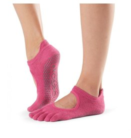 ToeSox ToeSox - Bellarina - Full Toe Grip - Raspberry