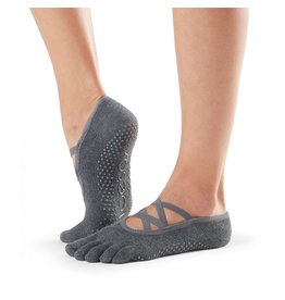 ToeSox ToeSox - Elle - Full Toe Grip - Charcoal Grey